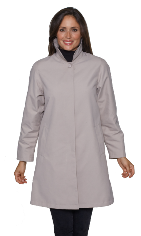 Womens Stone Showerproof Rain Coat db696